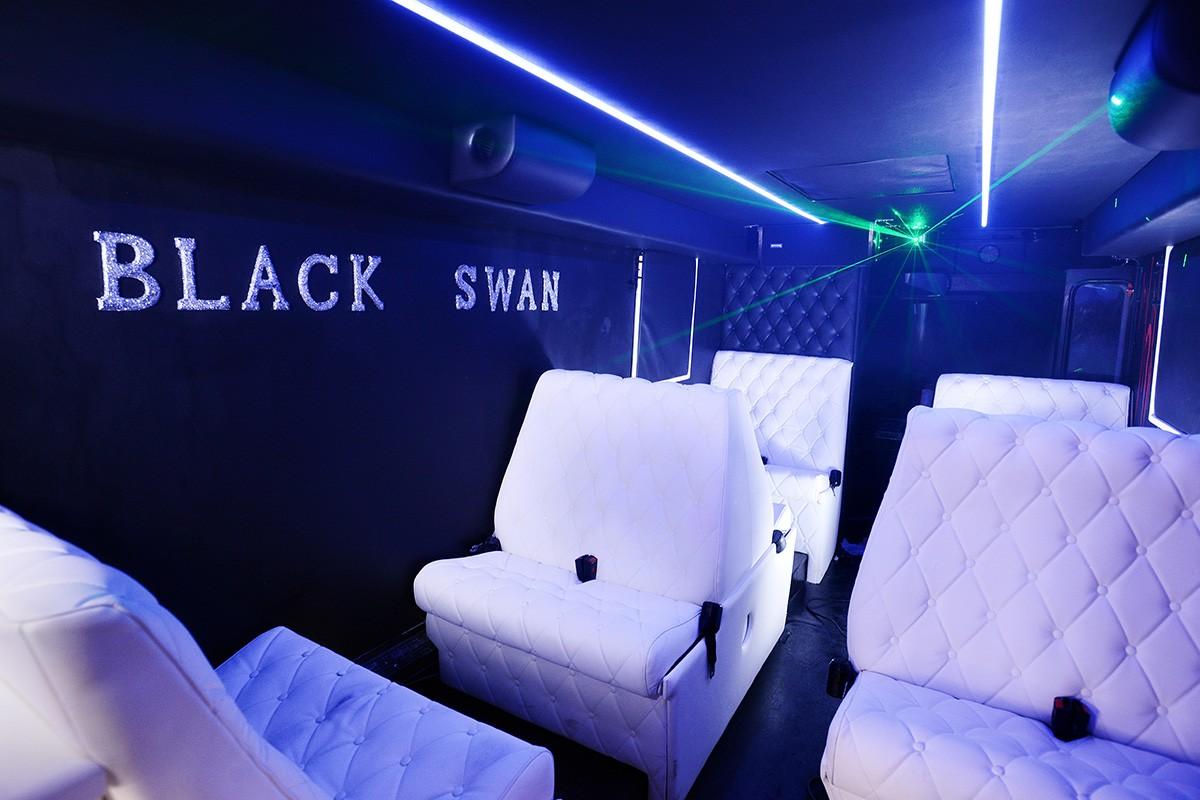Russebuss Black Swan