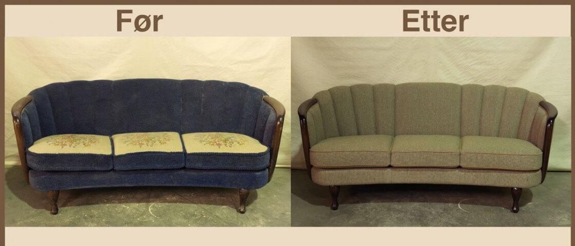 Salong fra 1950 før og etter